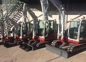 Full Range of Takeuchi Diggers Now in Stock