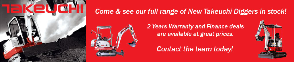 Come & see our full range of Takeuchi